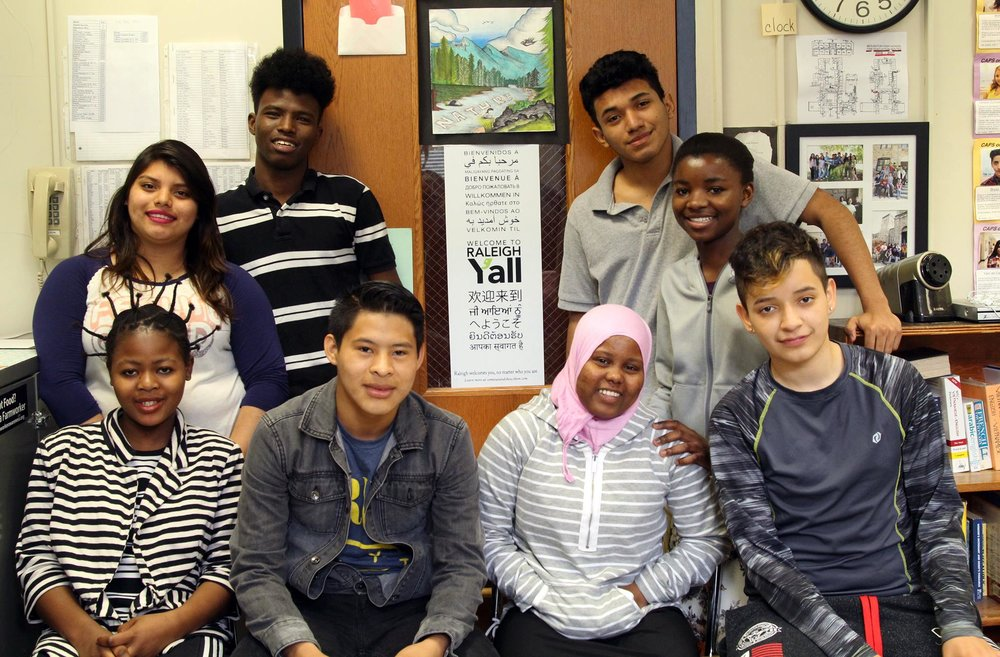 ESL students at Broughton High School. Photo by Carol Dukes.