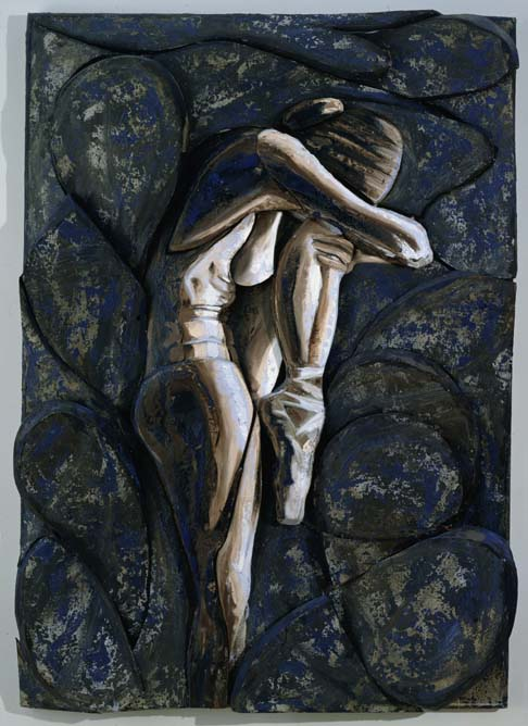 Oil on Canvas over Sculpted Foam  68x48 Inches