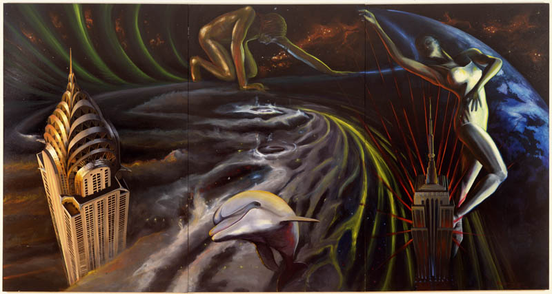 Oil on Canvas  72 x 132 Inches
