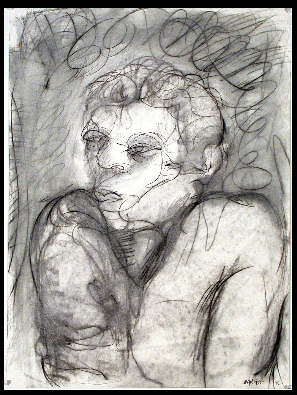 1996  24x18 in  Graphite on canvas