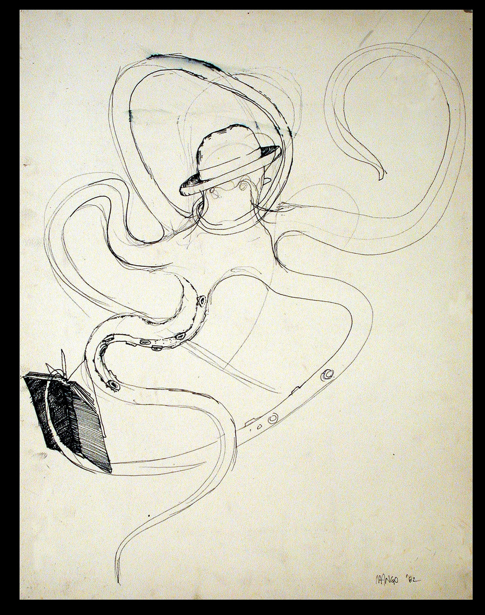 Study I  1983  Dry marker on paper  24x18 in.