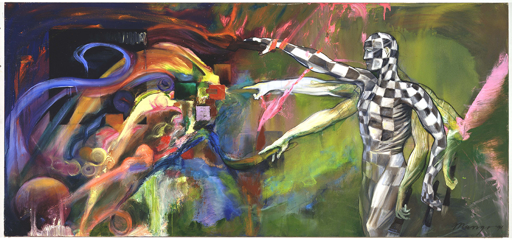 Oil On Canvas  42 x 90 Inches