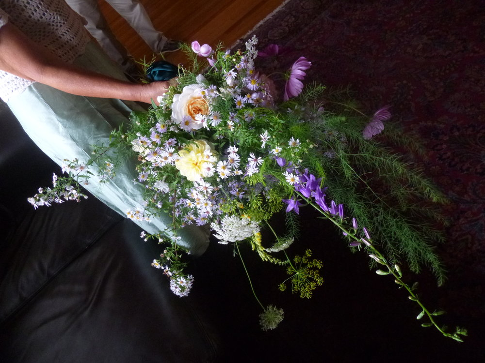 wedding florist and flower farm. 'Wildflower' bouquet by Hedgerow, Nova Scotia