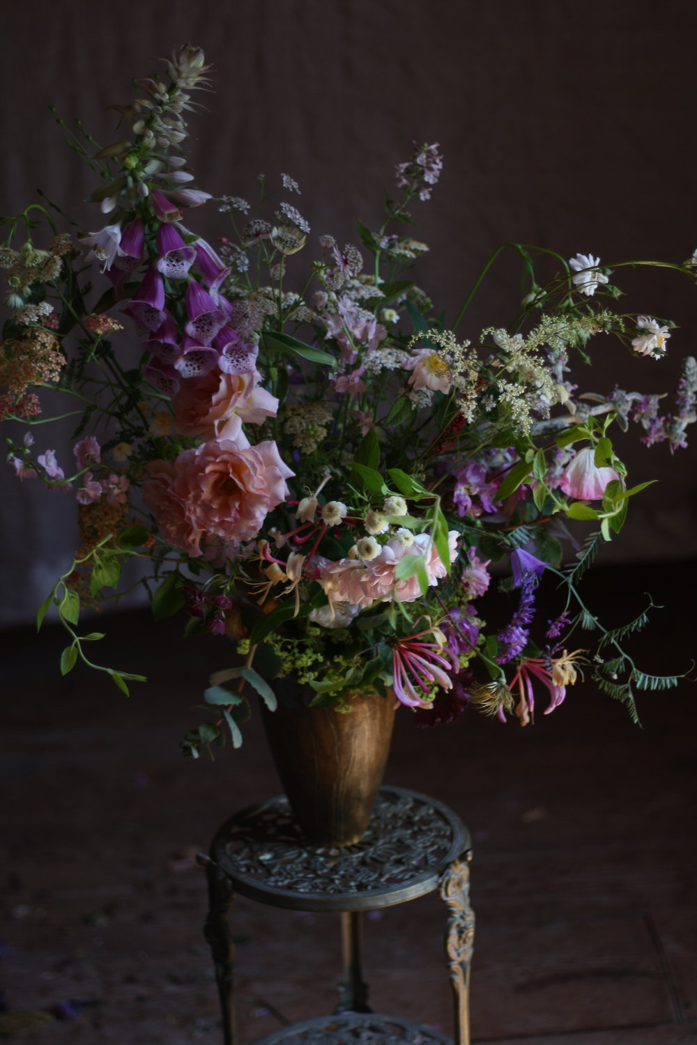 A wild hedgerow floral arrangement, from a Nova Scotian Flower Farm.