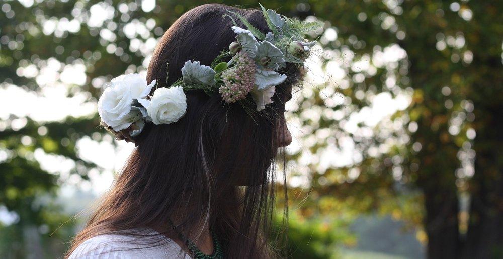 Hedgerow wedding crown, Nova Scotia