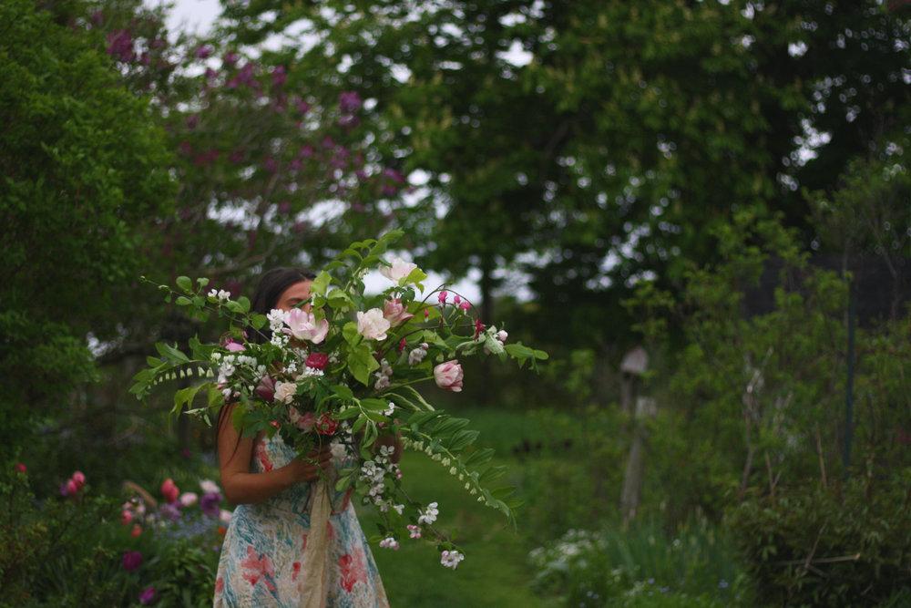 A spring floral arrangement by Hedgerow Flower Company, Nova Scotia