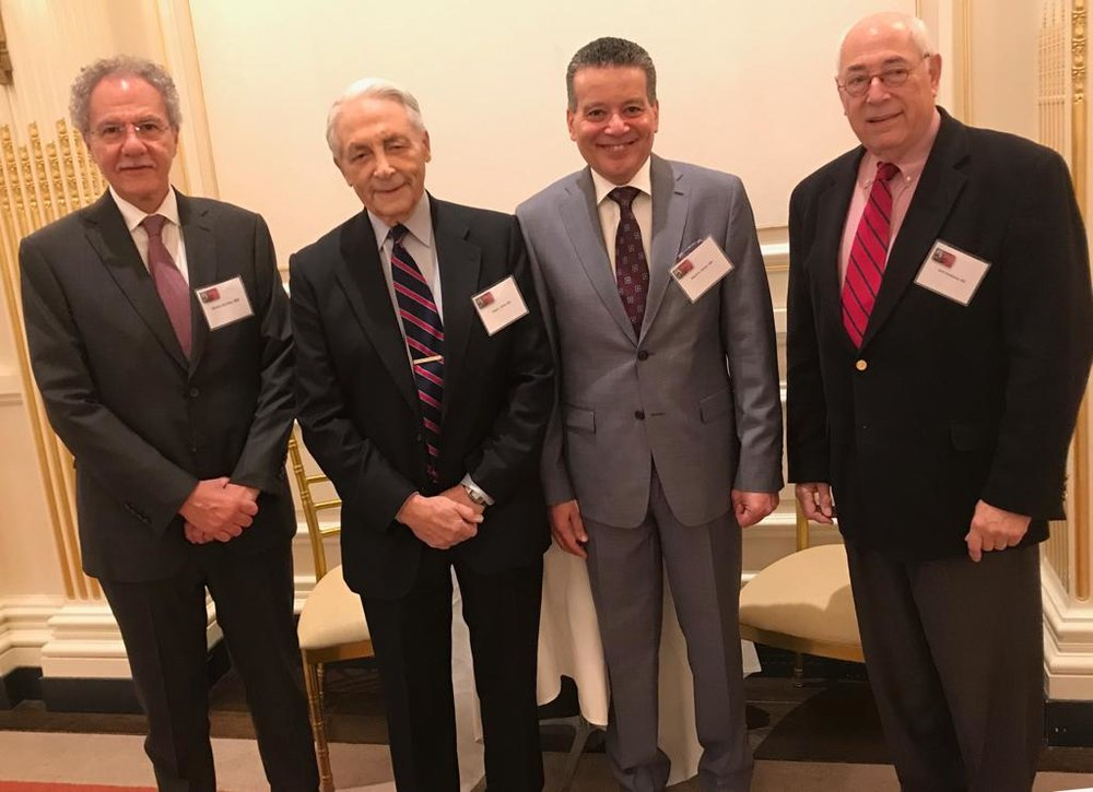 From Left to Right: Prof Enrico Archer, Prof Frank Veith, Prof Sherif Sultan and Prof Gerry Goldstone