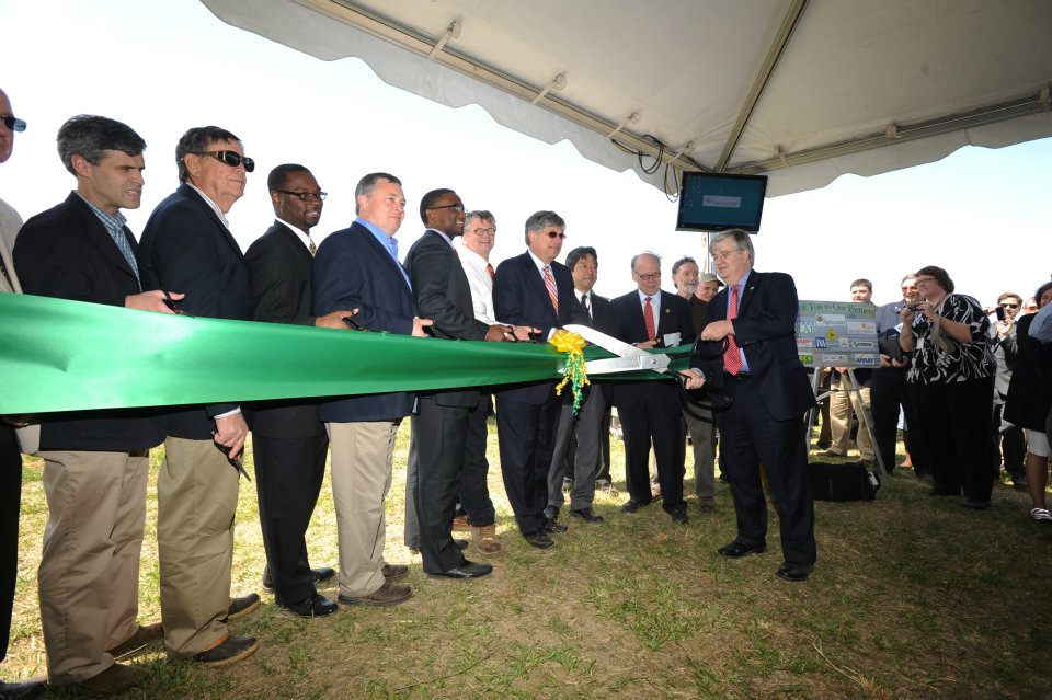 Photo from the April 10, 2012 ribbon cutting.
