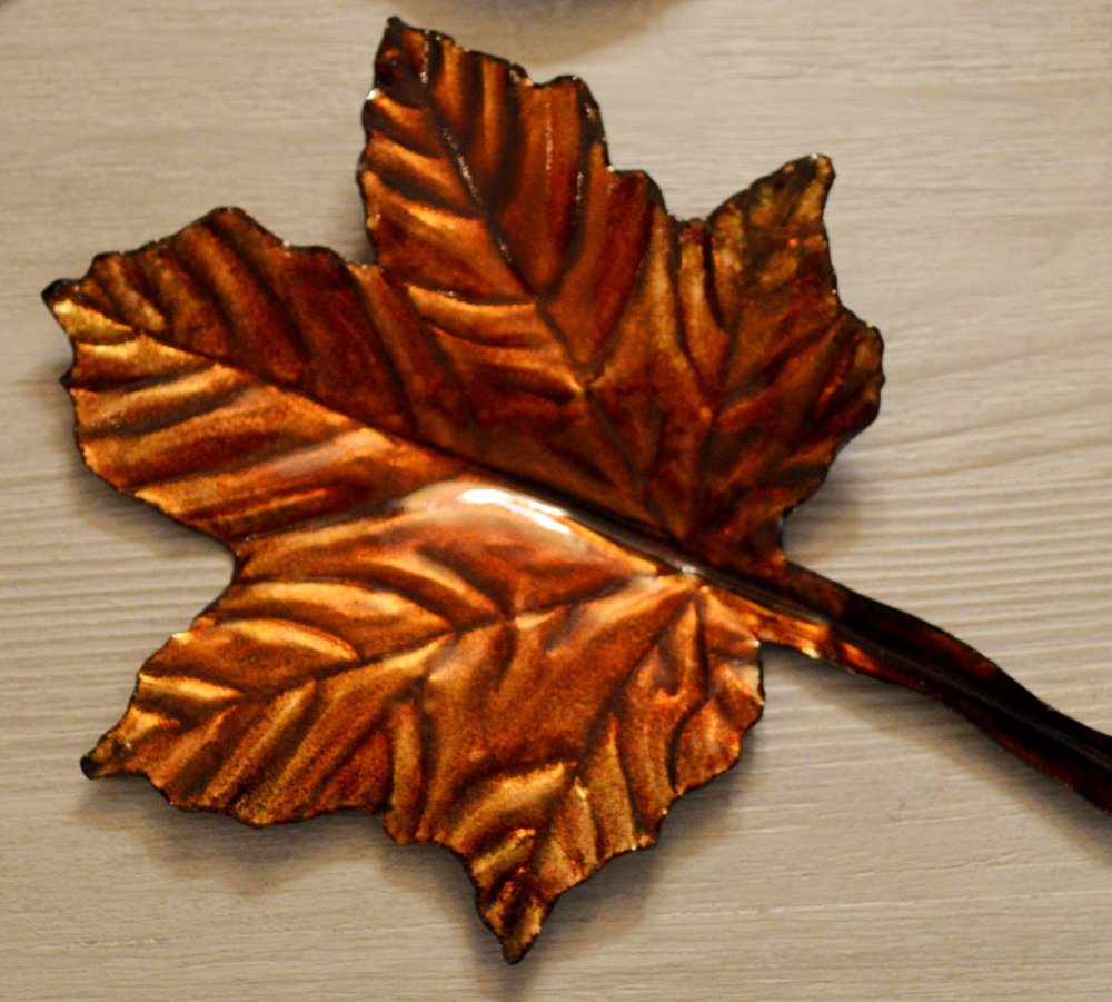 Enamel Leaves by Jane Wills