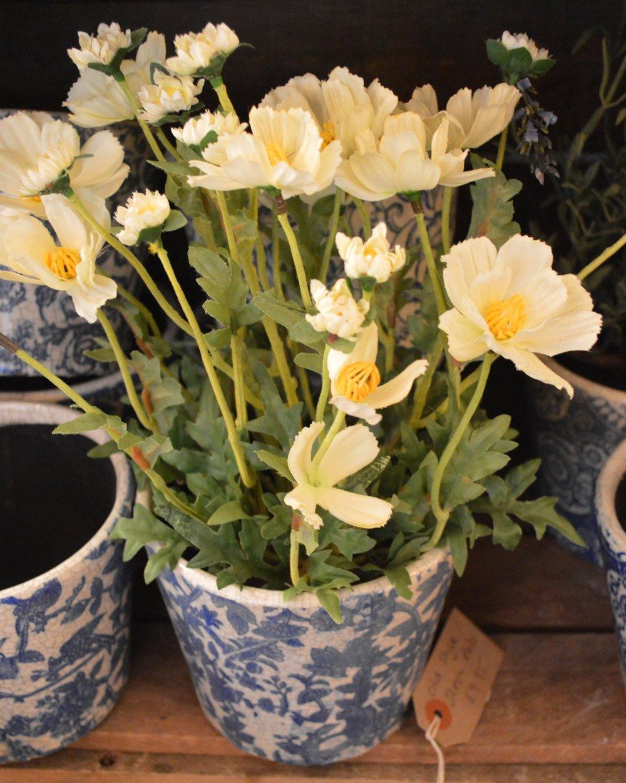 Blue and White Dutch Pots