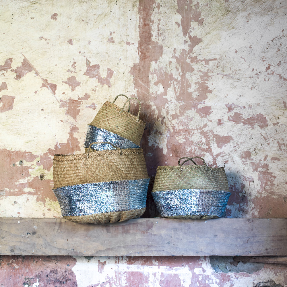 Sequin Baskets - prices start from £19.95