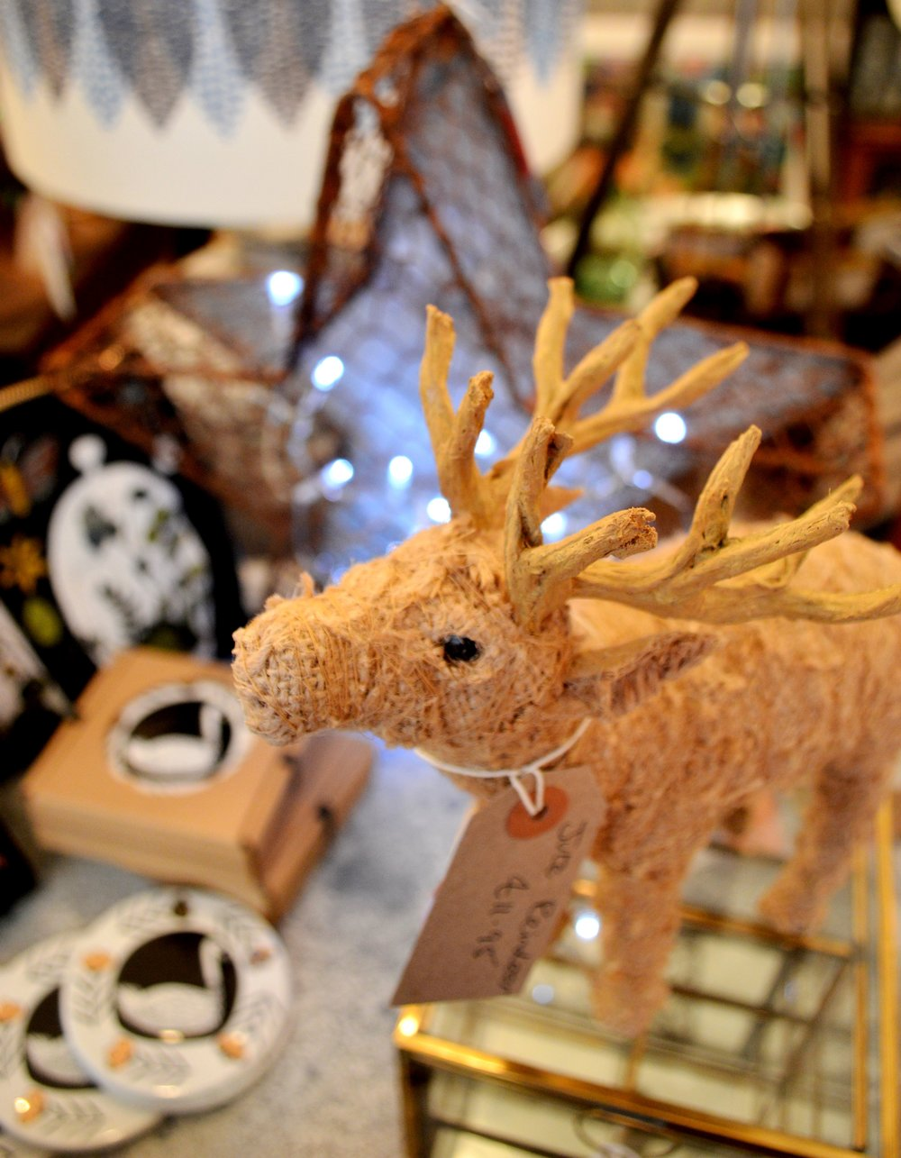 Jute Reindeer from Dassie Artisan £11.95 each