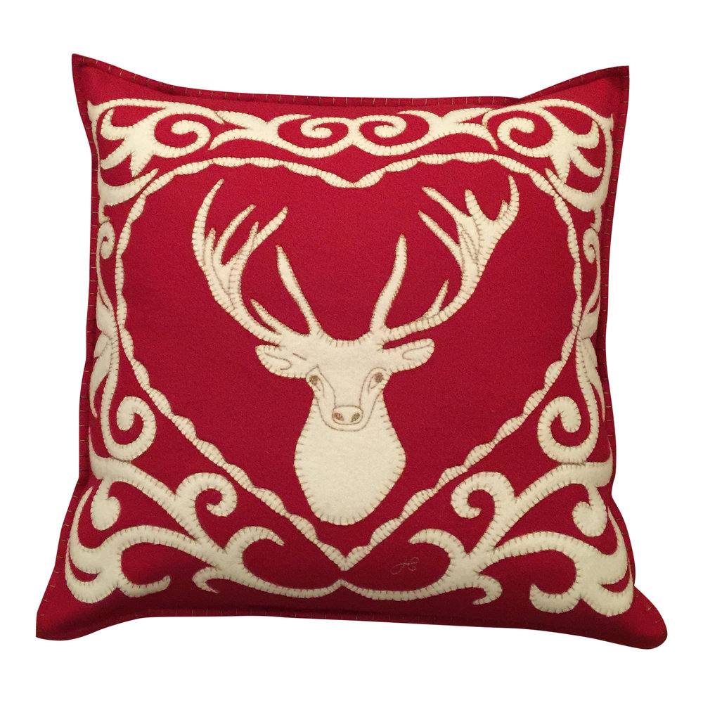 Reindeer Cushion Designed by Jan Constantine £98.00
