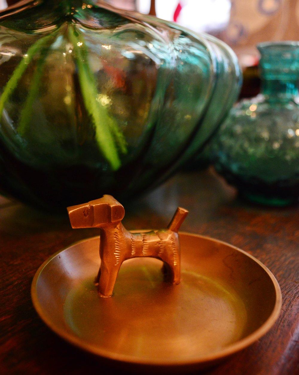 Brass Dog Jewellery Bowl £22.95