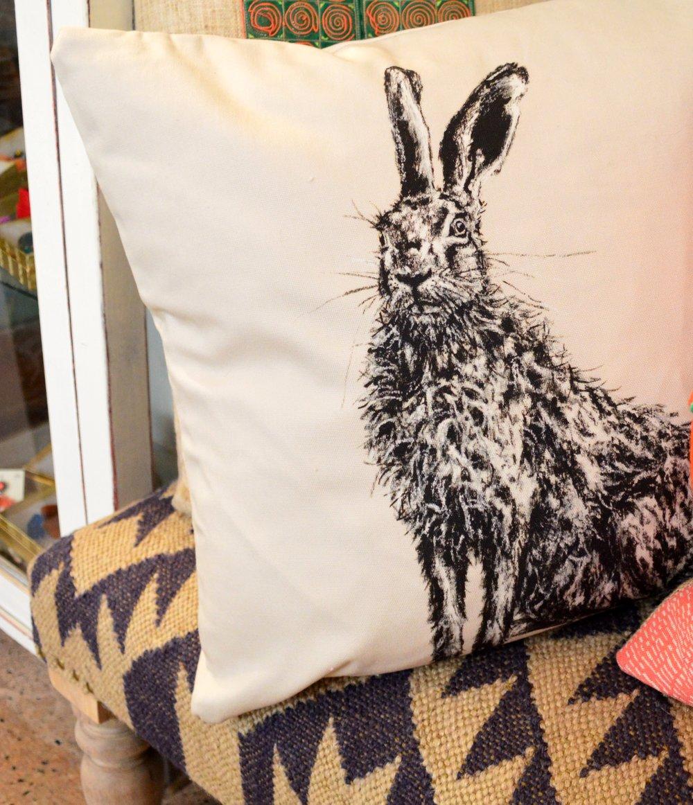 Hare Cushion by Bath Art Works £39.95