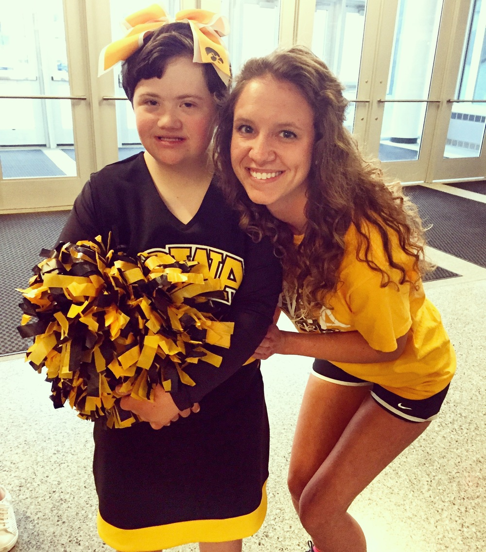 Hawkeye Sparkle Spirit Squad founder Karly Dankert