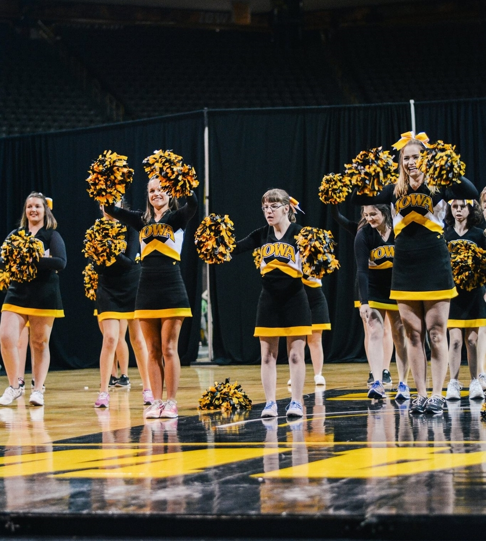 Hawkeye Sparkles Spirit Squad members perform at Greek Follies. Photo by Melissa Quaiyoom