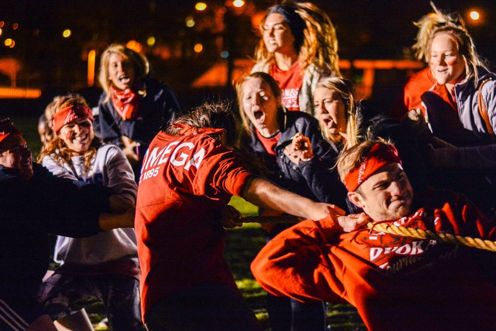 Tug of War during Greek Olympics. Photo by Melissa Quaiyoom