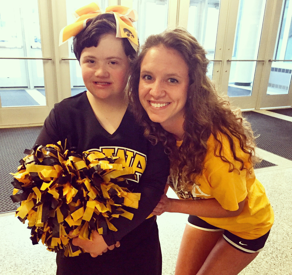 Karly Dankert, Co-Founder of the Hawkeye Sparkles, an inclusive spirit squad for students with or without disabilities. Read all about Karly and the Hawkeye Sparkles on the blog by clicking HERE