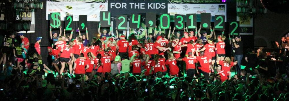 $2,424,031.22 raised FOR THE KIDS!