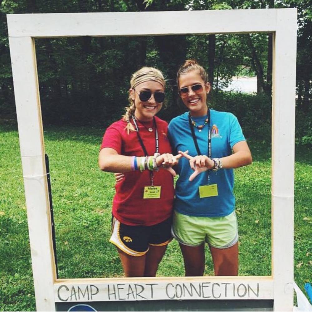 Marlee Speak and Kelsey Tebbe served as counselors for Camp Heart Connection this summer.They are both studying to become Child Life Specialists.