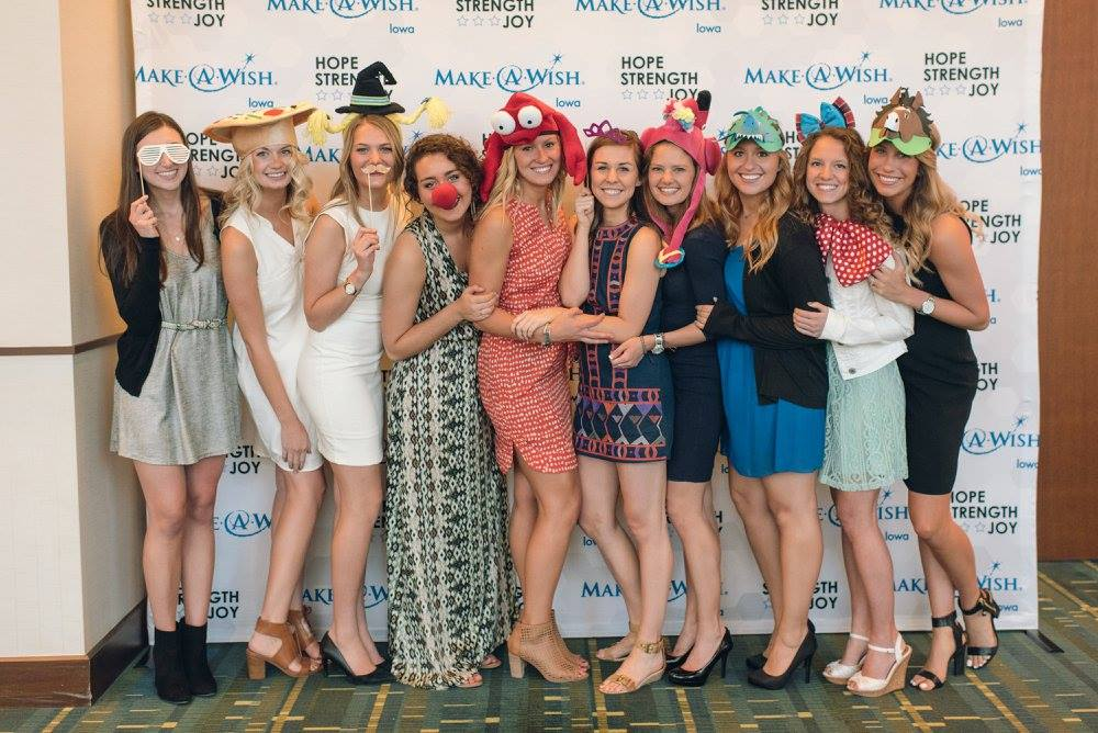 Chi Omegas at the annual Make-A-Wish Gala