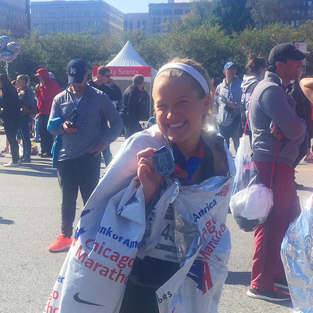 chicago-marathon-alex-griffin-ran-medal-iowa-chi-omega-ftk