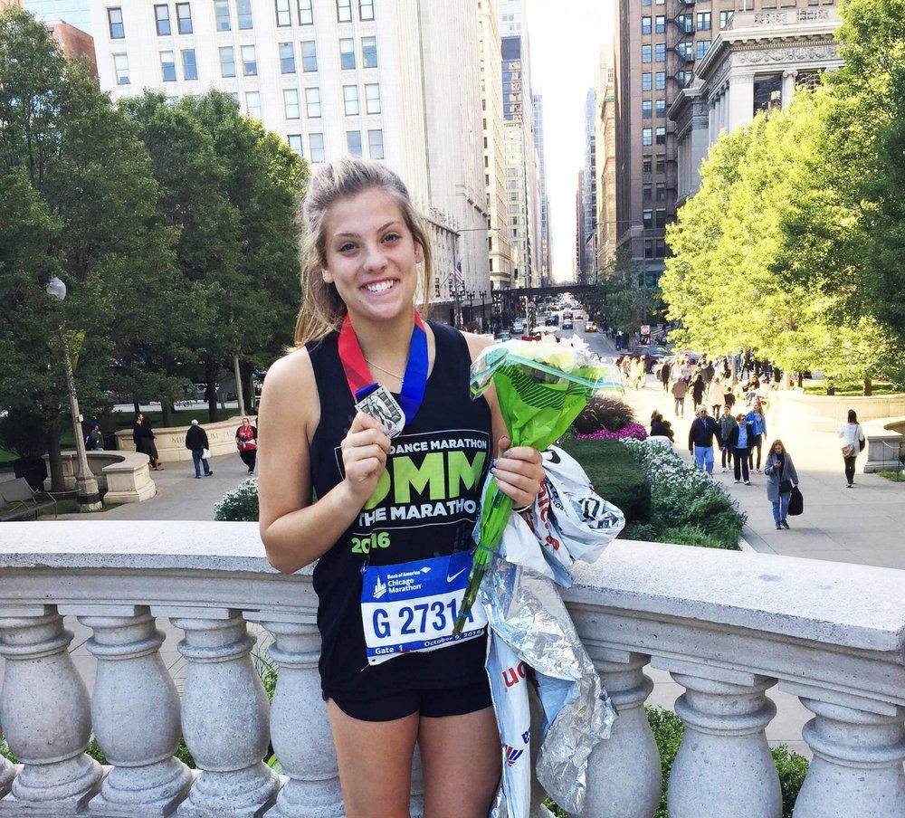 iowa-chi-omega-darby-drenzek-ran-chicago-marathon-ftk-dance-marathon