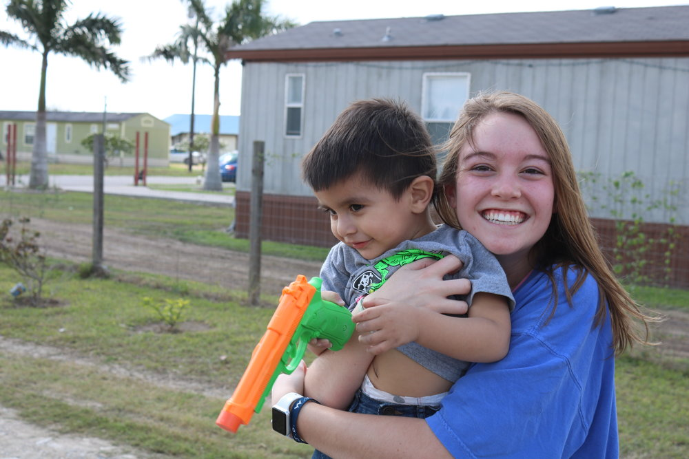 """Katy Garn - """"It felt so good being able to give such a deserving family a better living situation. I'm so thankful that I was given the opportunity to meet that family and spend my spring break in service because it really helped refocus my priorities and reminded me to be thankful for all that I have,"""" Sister Garn said. """"I still get a warm feeling inside when I think about the impact I was able to make. I couldn't imagine spending my spring break any other way."""""""