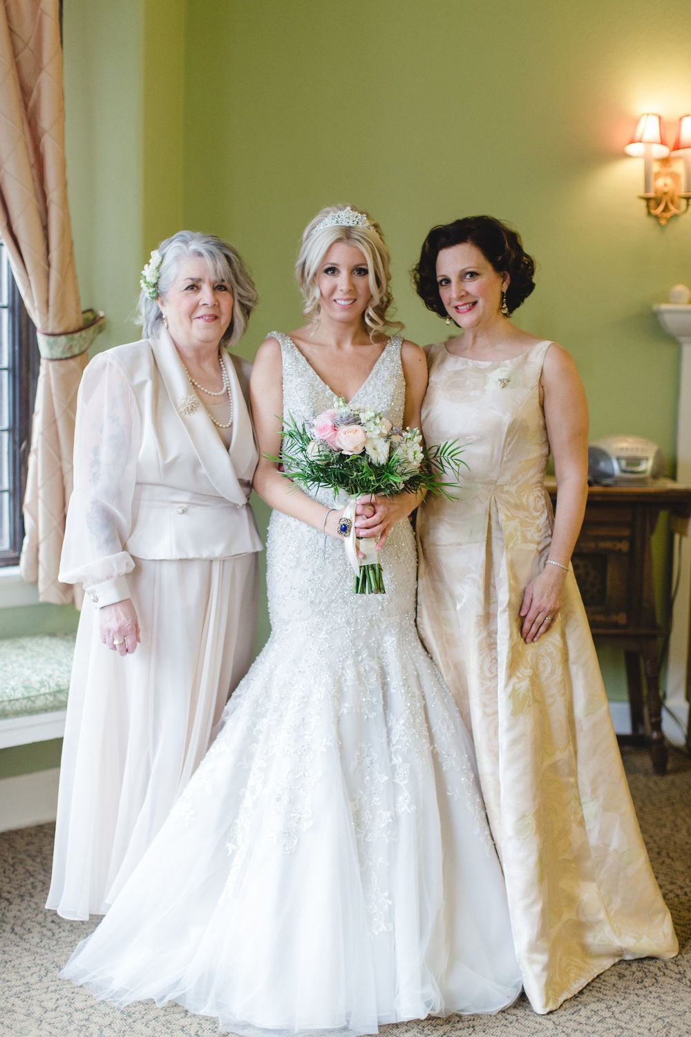 My beautiful mom, my precious daughter on her princess day, and myself. Photo courtesy of Rebekah Albaugh Photography