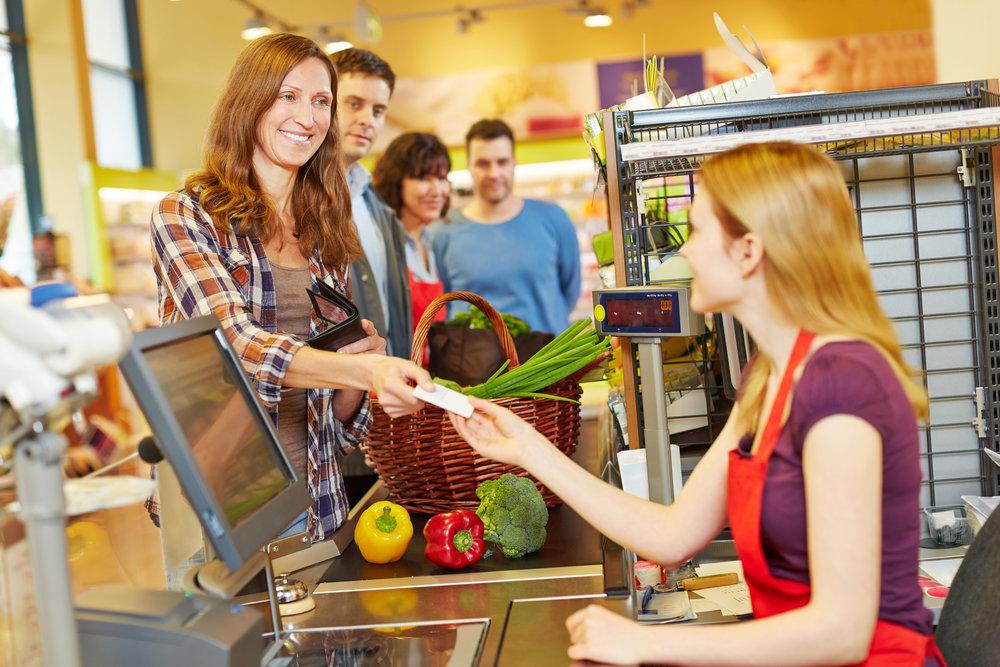 Kassierer und andere Tätigkeiten im Einzelhandel