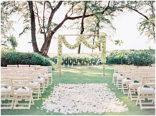 orchid ceremony arch