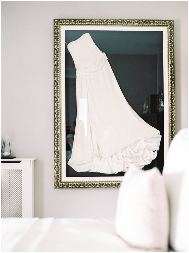 Wedding dress framed