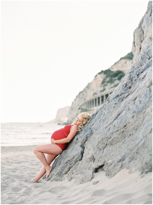 Maternity session Barcelona beach