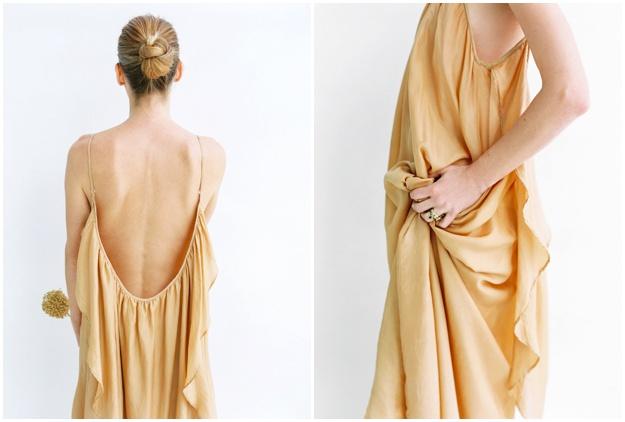 floaty silk wedding dresses Ibiza