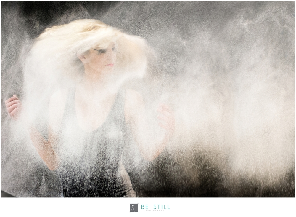 San Diego Art Fashion Photography flour thrown