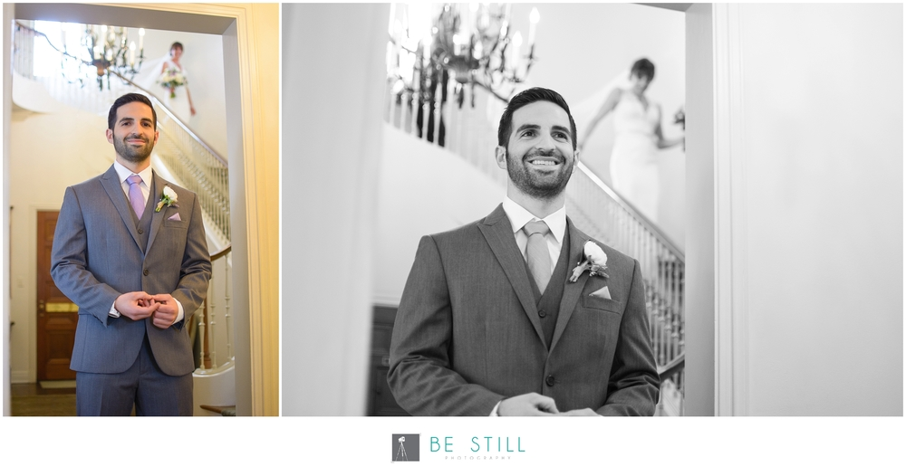 San Diego Wedding Photographer at Darlington House in La Jolla | First look