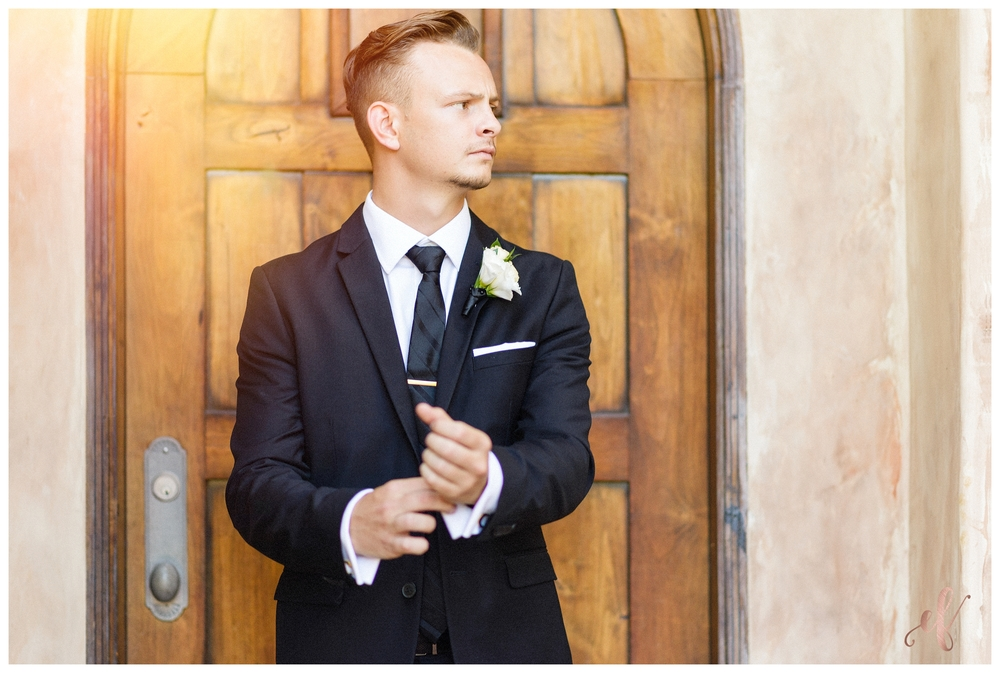 San Diego Wedding Photographer | Ernie & Fiona Photography | Groom | Pose | Rock | Cuff Links