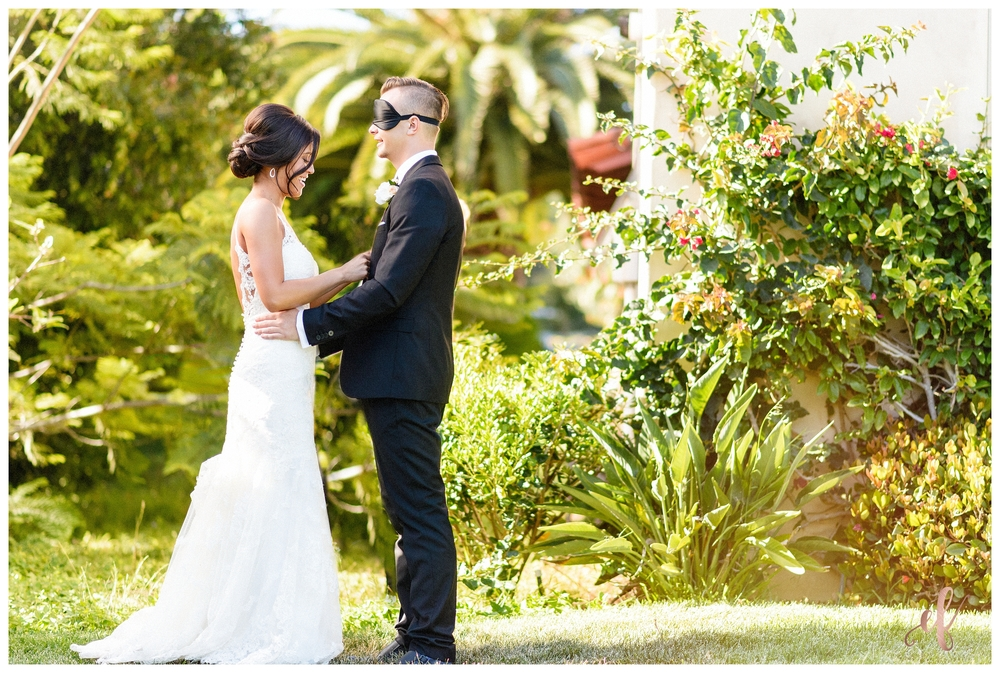 San Diego Wedding Photographer | Ernie & Fiona Photography | Bride | Groom | First Look | Blindfold