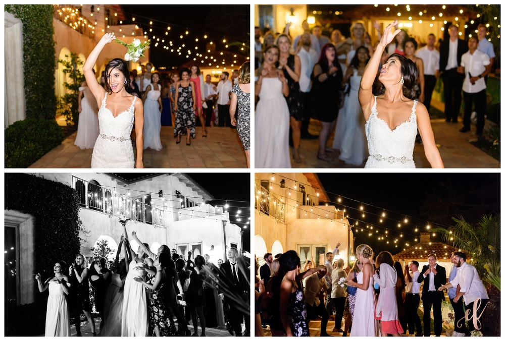 San Diego Wedding Photographer | Ernie & Fiona Photography | Bride | Bouquet Toss