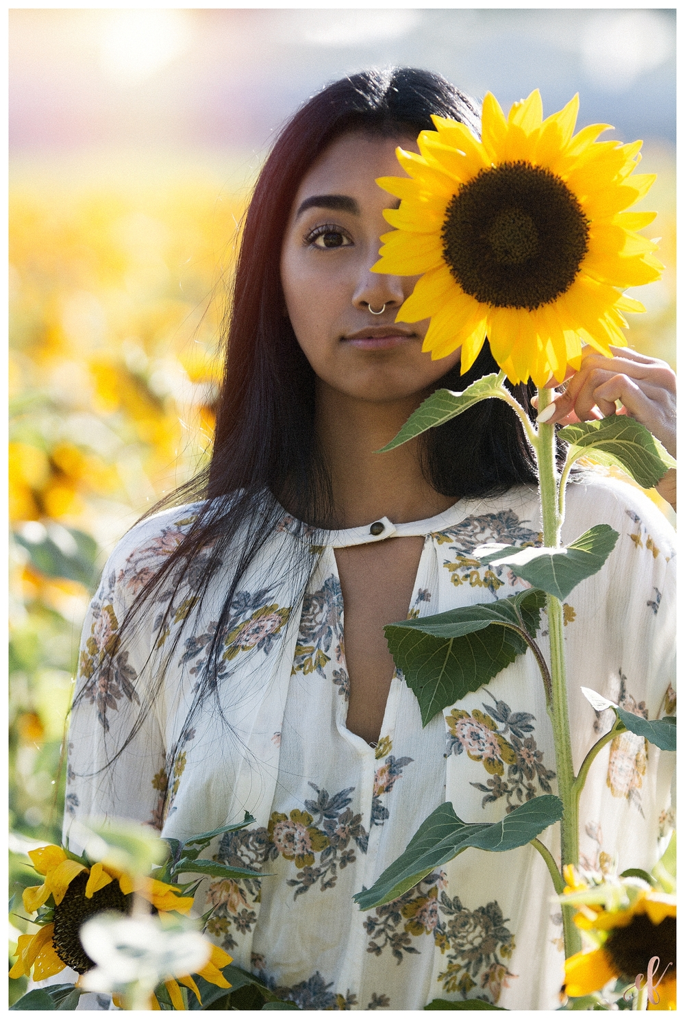 San Diego Senior Photography | Sunflowers | Destiny