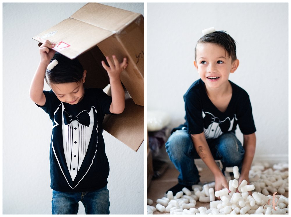 San Diego Portrait Photography | School | First Day of School | Tuxedo T-Shirt