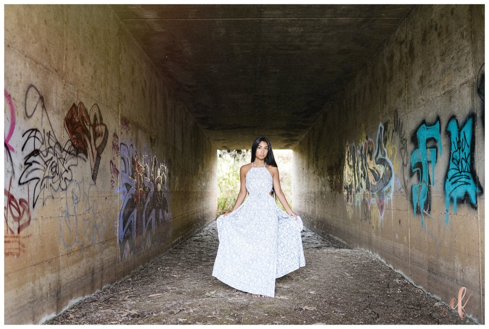 San Diego Portrait Photography | Senior Portraits | Graffiti | Free People