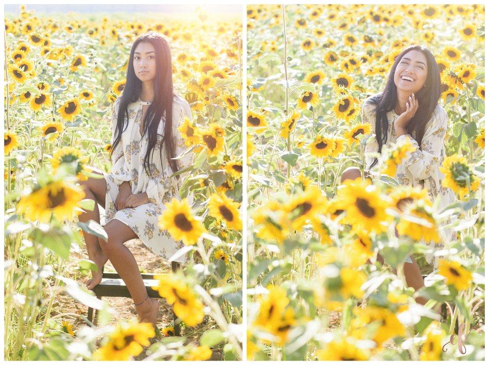 San Diego Portrait Photography | Senior Portraits | Sunflowers | Free People | San Marcos