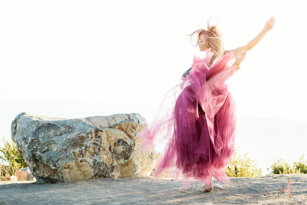 San Diego Portrait Photography | Dance | Yoga | Tulle Skirt | San Marcos | Double Peak