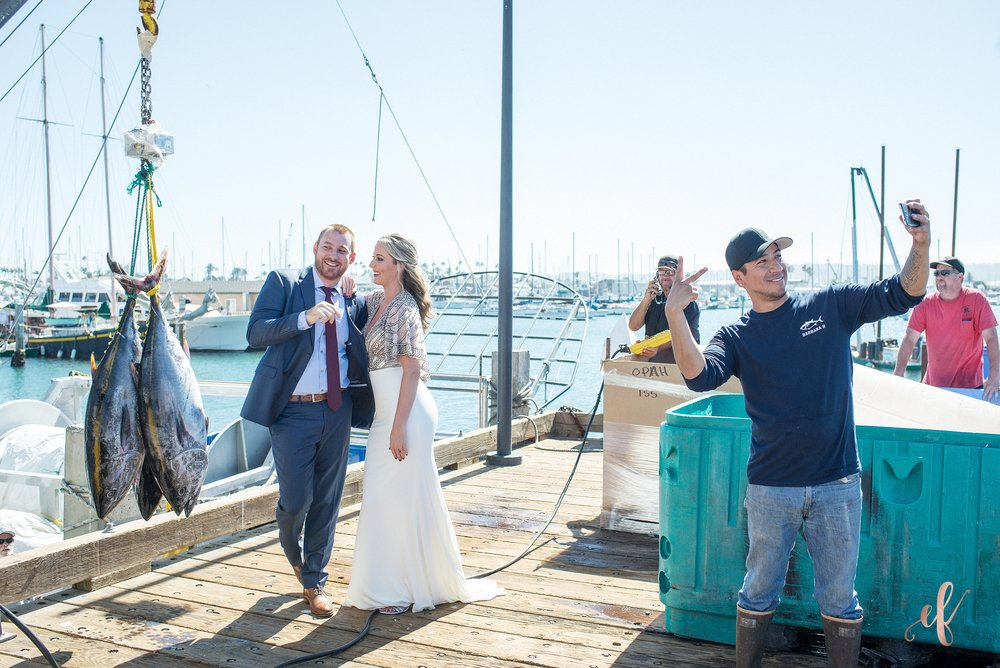 Ernie & Fiona Photography | San Diego Wedding Photography | Point Loma | Fish