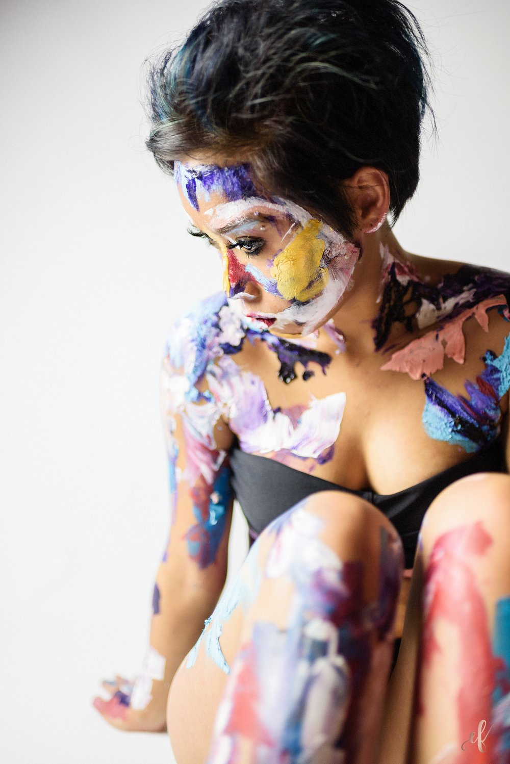San Diego Portrait Photography | Paint | Body Paint | Art | Destiny Macias