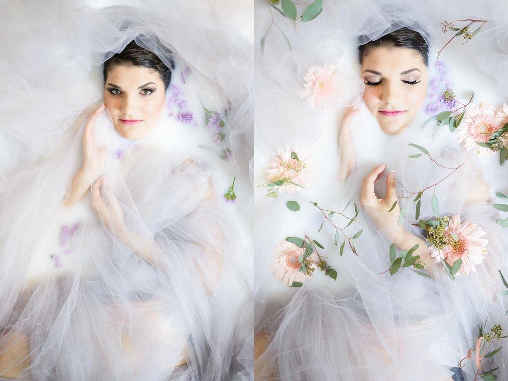 milk bath portrait photography | Ernie & Fiona Photography