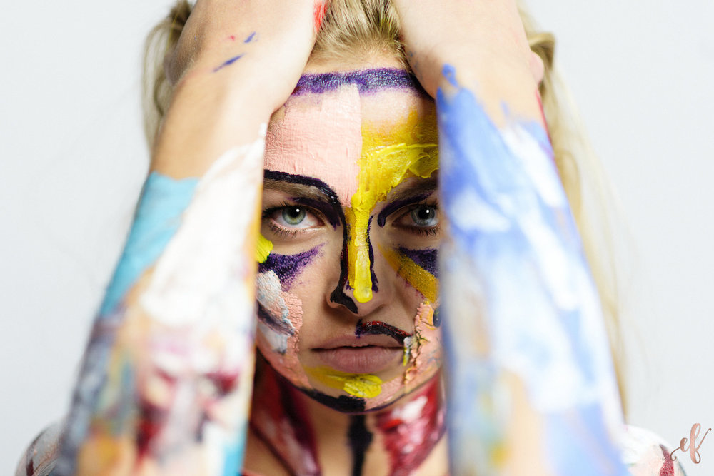 San Diego Portrait Photographer | Paint Portrait | Human Canvas