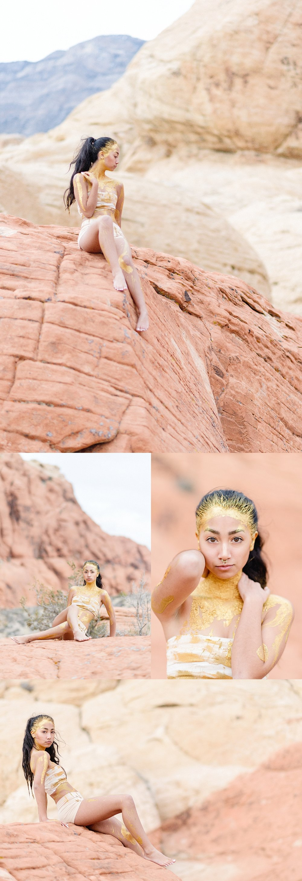 San Diego Portrait Photography | Destiny | Red Rock | Paint